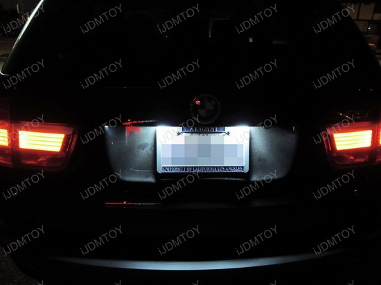 BMW - X5 - LED - License - Plate - Lights - 03